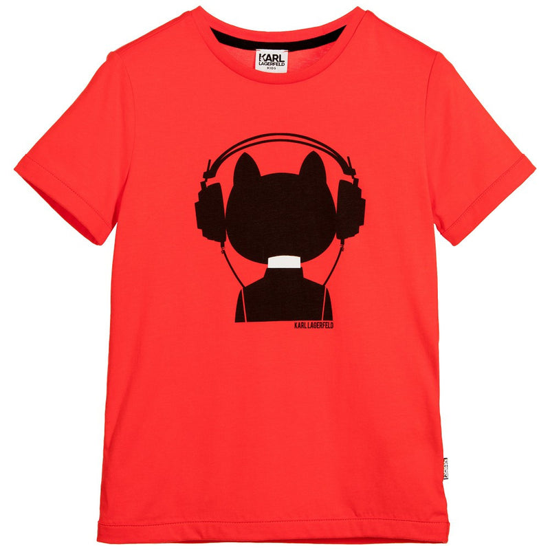 Karl Lagerfeld Boys Red 'Bad Boy' Red T-Shirt Boys T-shirts Karl Lagerfeld Kids [Petit_New_York]