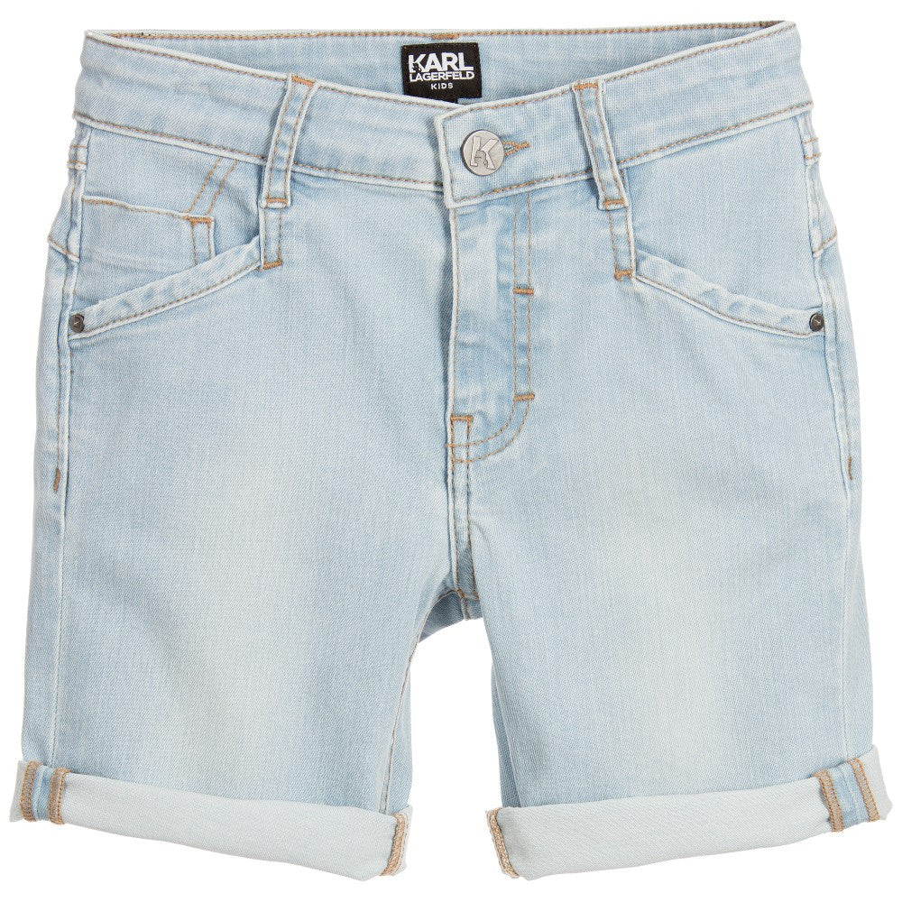 Karl Lagerfeld Boys Bleached Denim Shorts Boys Shorts Karl Lagerfeld Kids [Petit_New_York]