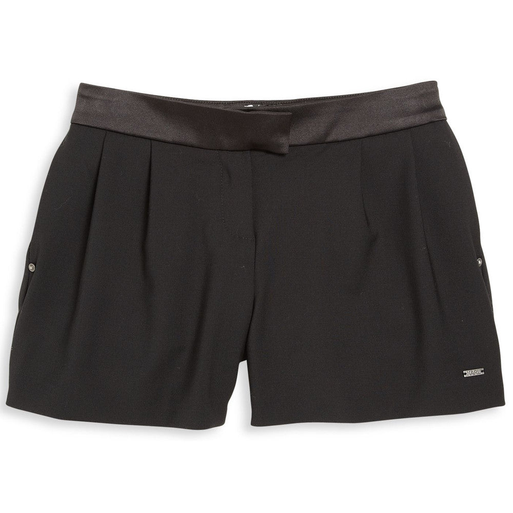 Karl Lagerfeld Girls Wool & Satin Shorts Girls Shorts Karl Lagerfeld Kids [Petit_New_York]