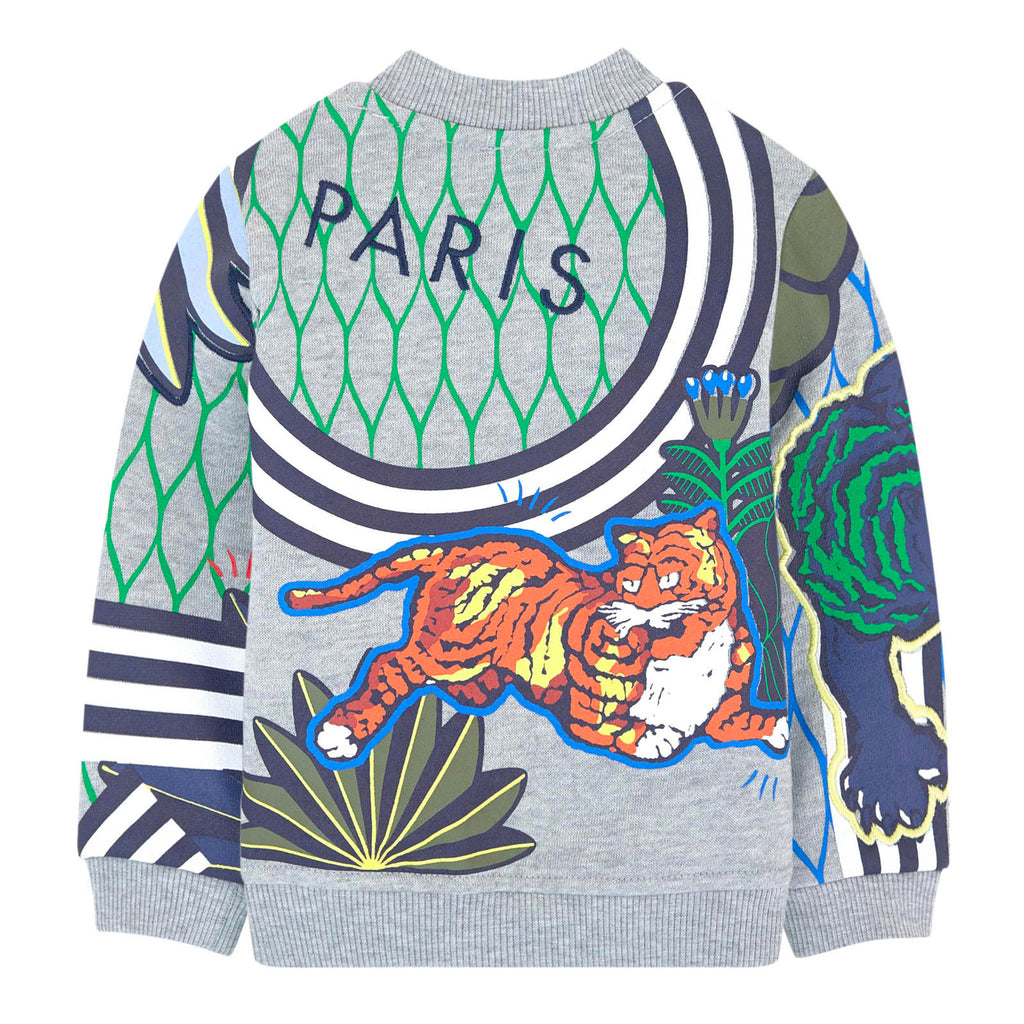 Baby Boys Jungle Tiger Zip-Up Sweatshirt