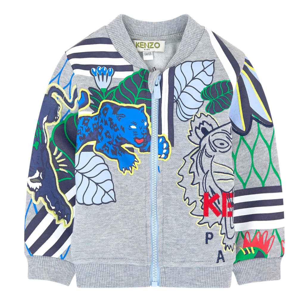 Kenzo Baby Boys Jungle Tiger Zip-Up Sweatshirt