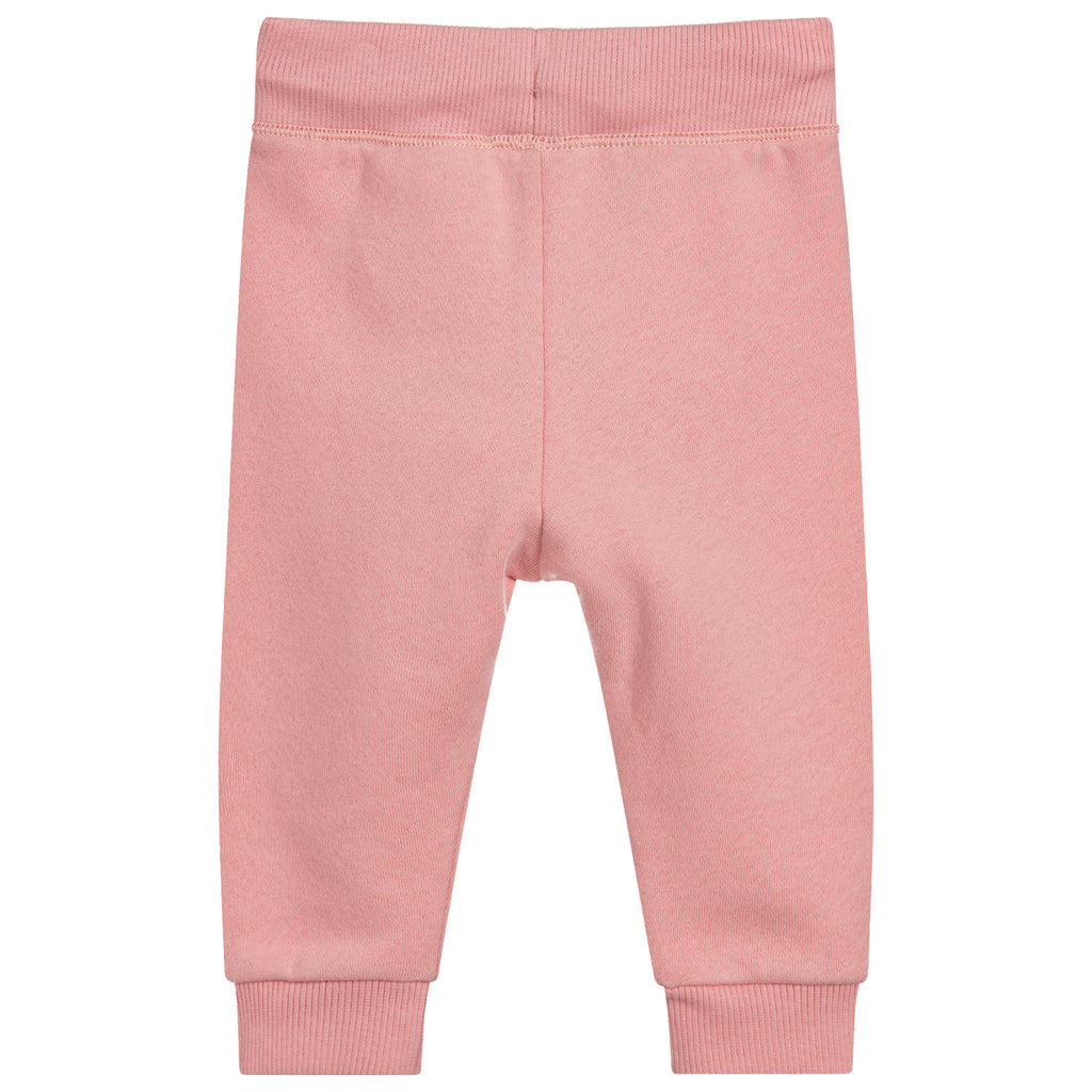 Baby Girls Soft Pink Tiger Patched Sweatpants