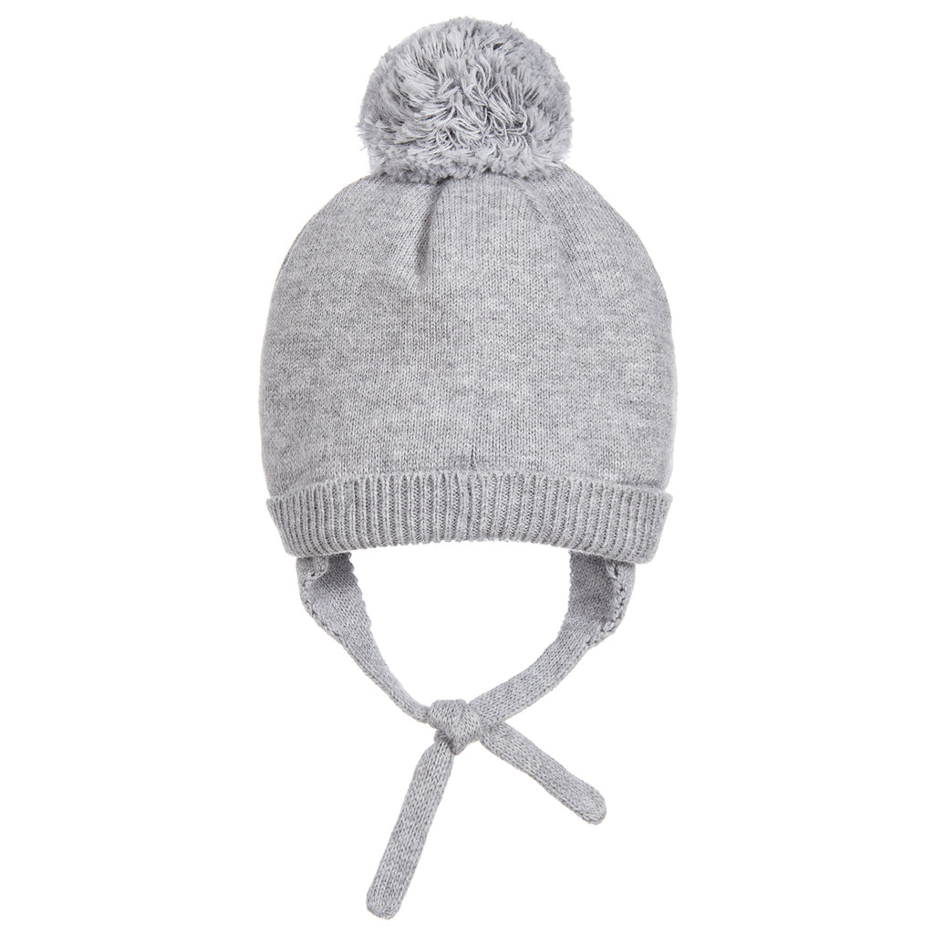Baby Unisex Grey Knitted Cashmere Blend Hat