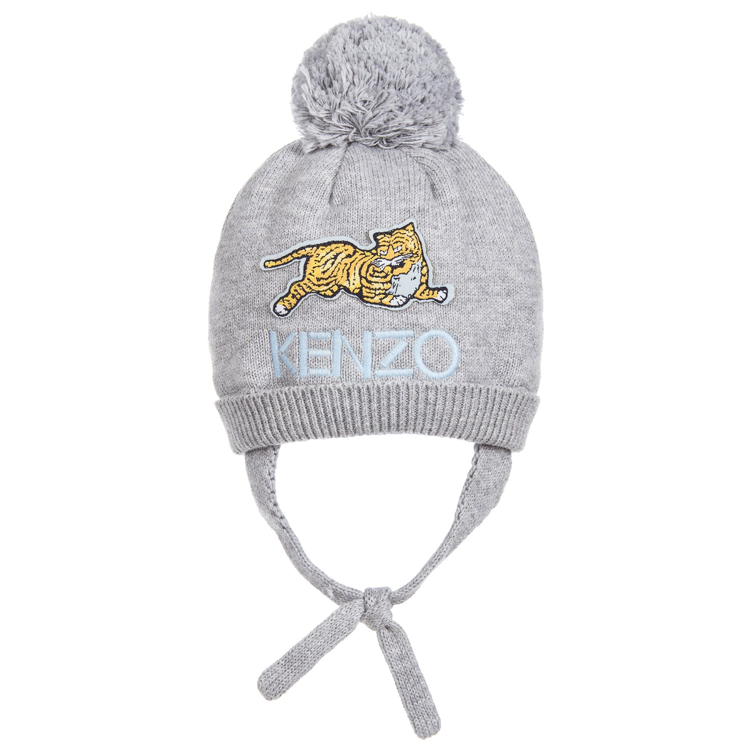99e86d0a6f7 Kenzo Baby Grey Knitted Cashmere Blend Hat – Petit New York