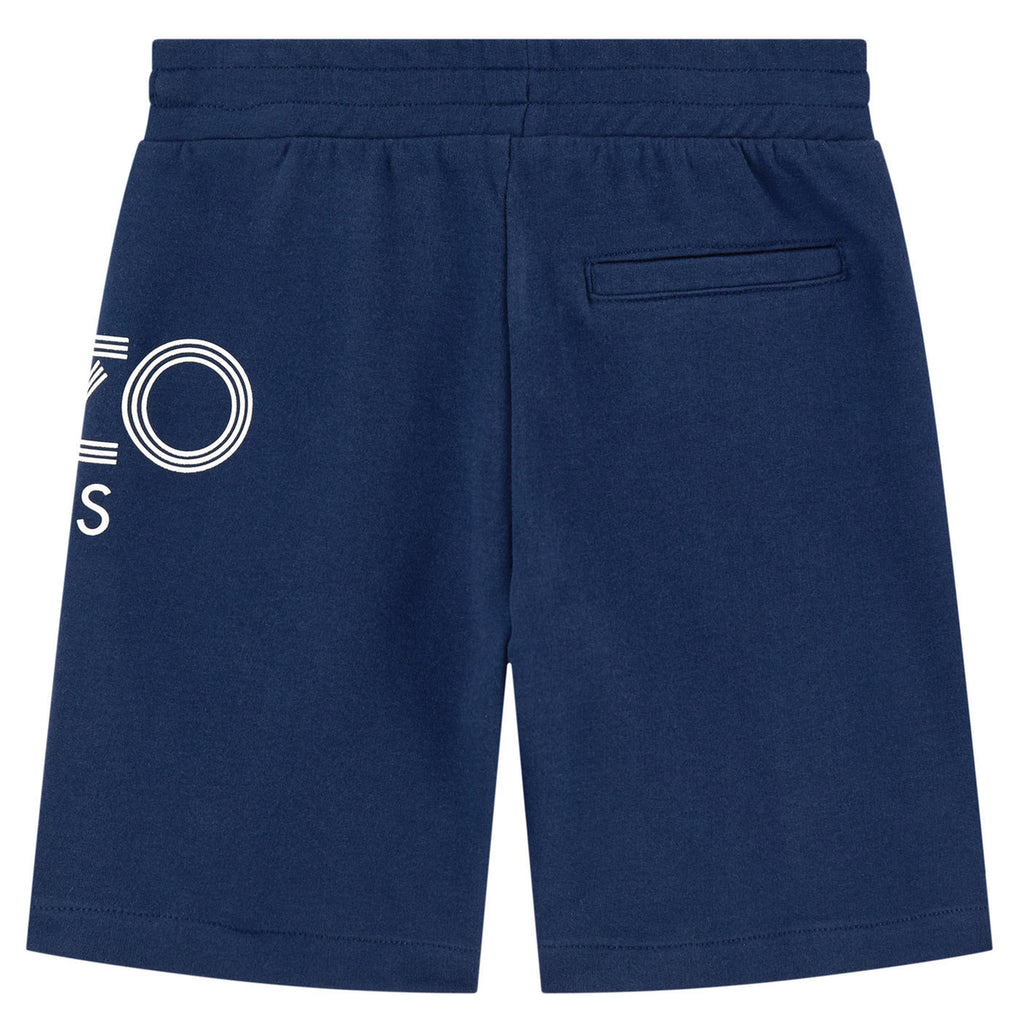 Boys Blue Logo Sweatshorts