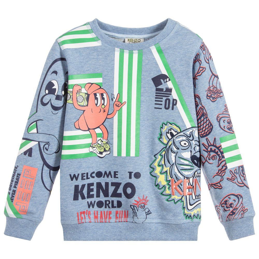 Baby Boys Colorful Tiger Sweatshirt (Mini-Me)