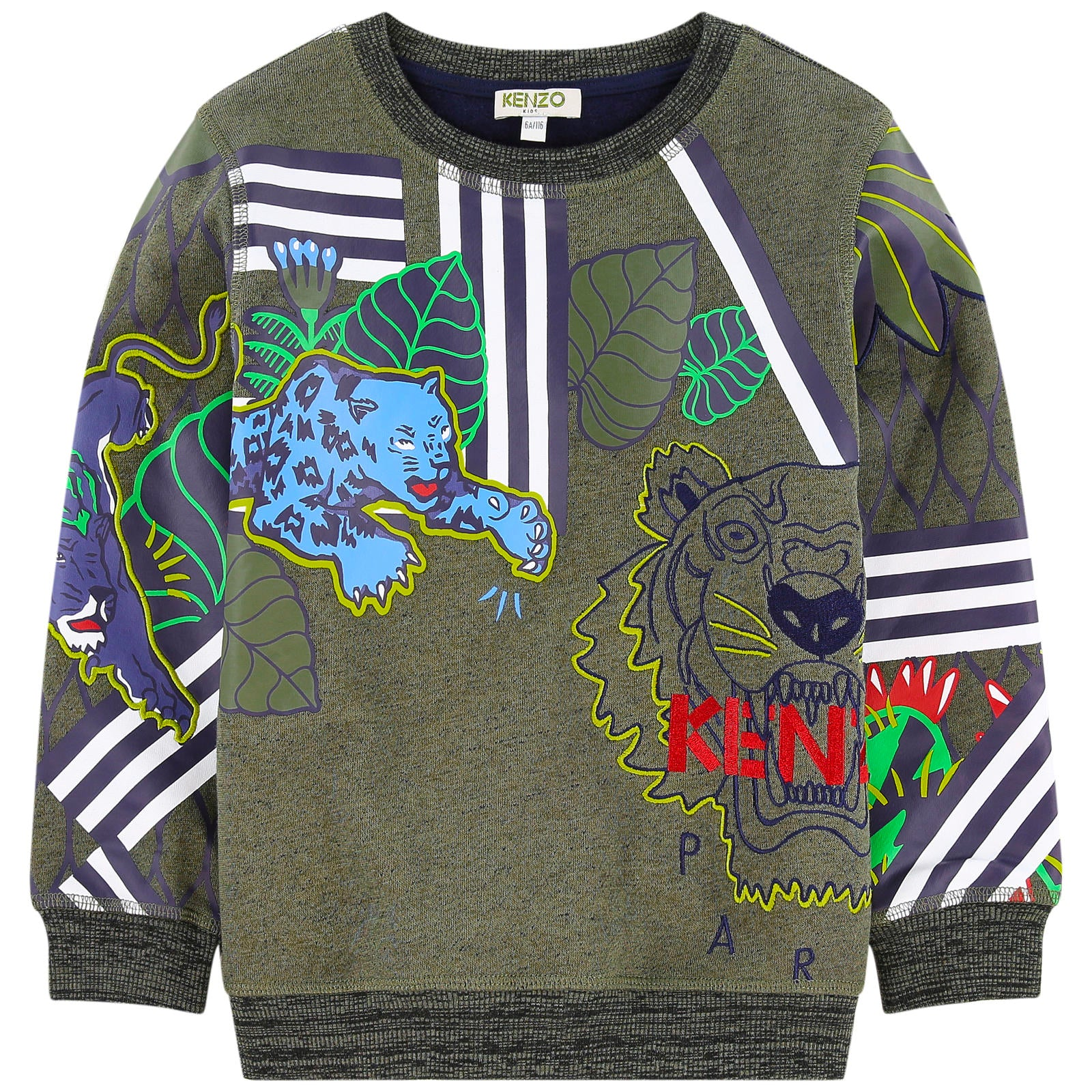7ca083323 Kenzo Boys Green Jungle Tiger Logo Sweatshirt – Petit New York
