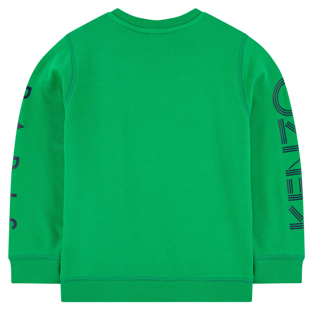 Unisex Green Logo Sleeves Sweatshirt