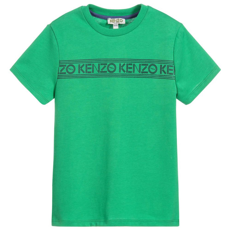 Boys Green Logo T-shirt