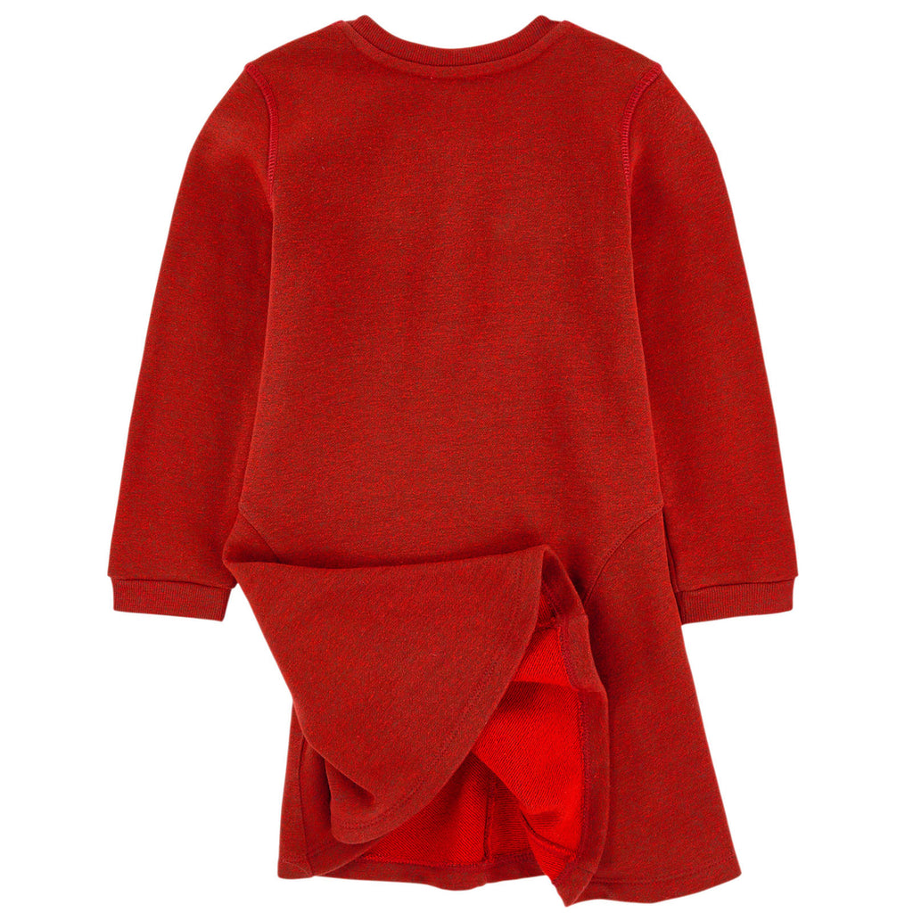 Kenzo Girls 'Eye' Red Sweatshirt Dress Girls Dresses Kenzo Paris [Petit_New_York]