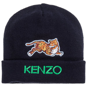 Unisex Navy Blue Hat with Tiger Logo