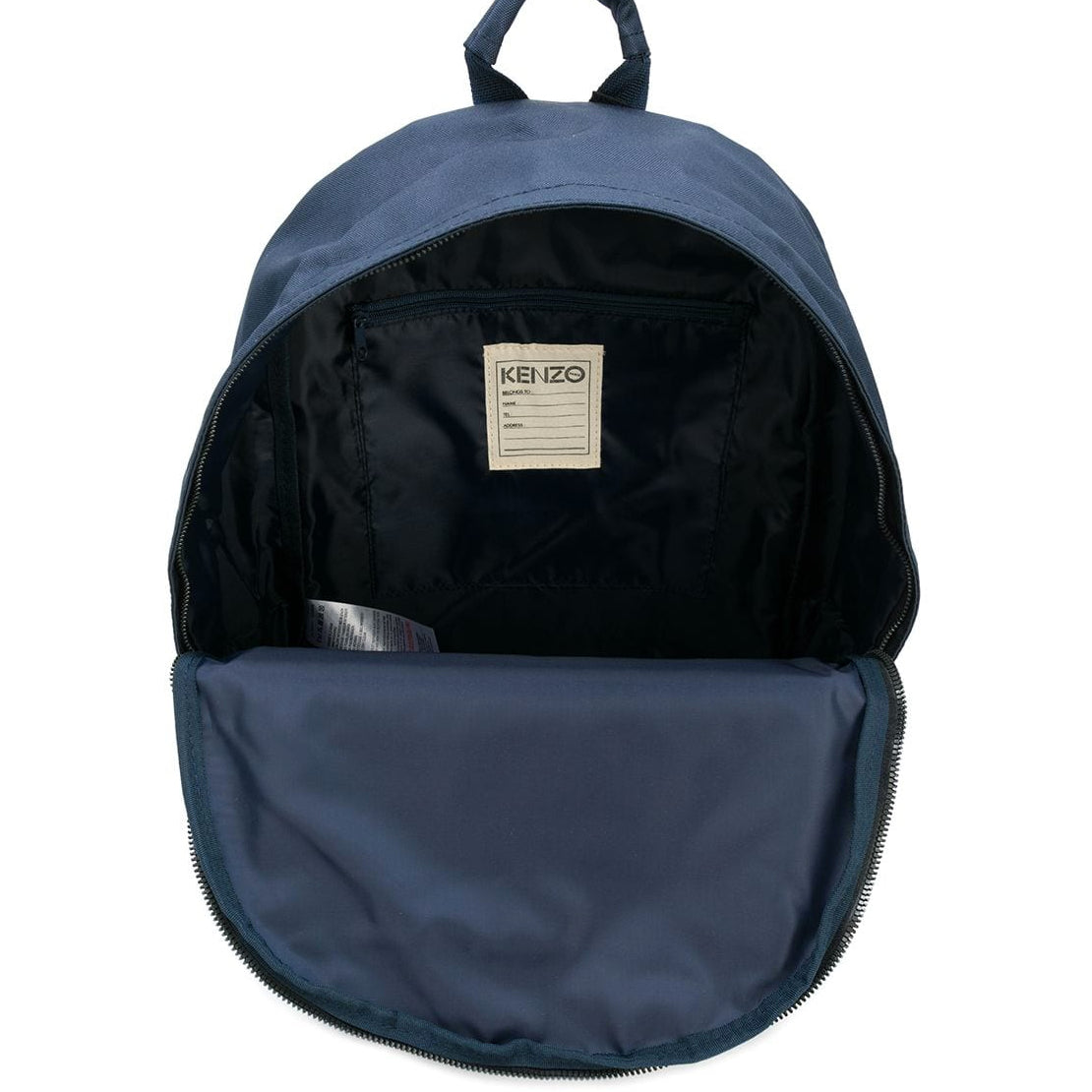 a3df178d8a Kenzo Kids Navy Blue Tiger Patched Logo Backpack – Petit New York