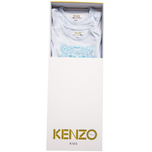Kenzo Baby Boys Blue Romper 2-Piece Gift Set Baby Rompers & Onesies Kenzo Paris [Petit_New_York]