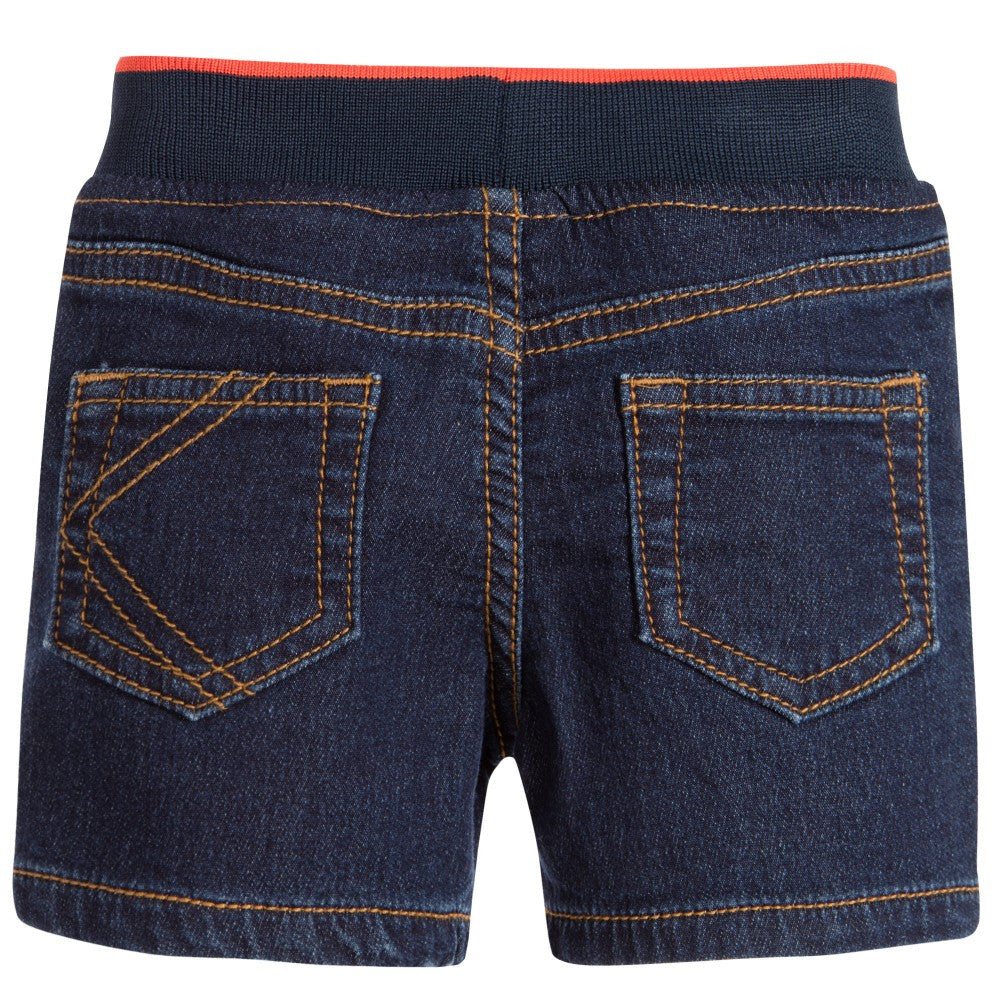 Kenzo Baby Boys Denim Short With Patches Baby Bottoms Kenzo Paris [Petit_New_York]