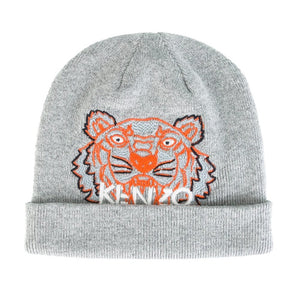 220764bb6 Baby Boys Grey Knitted Tiger Hat