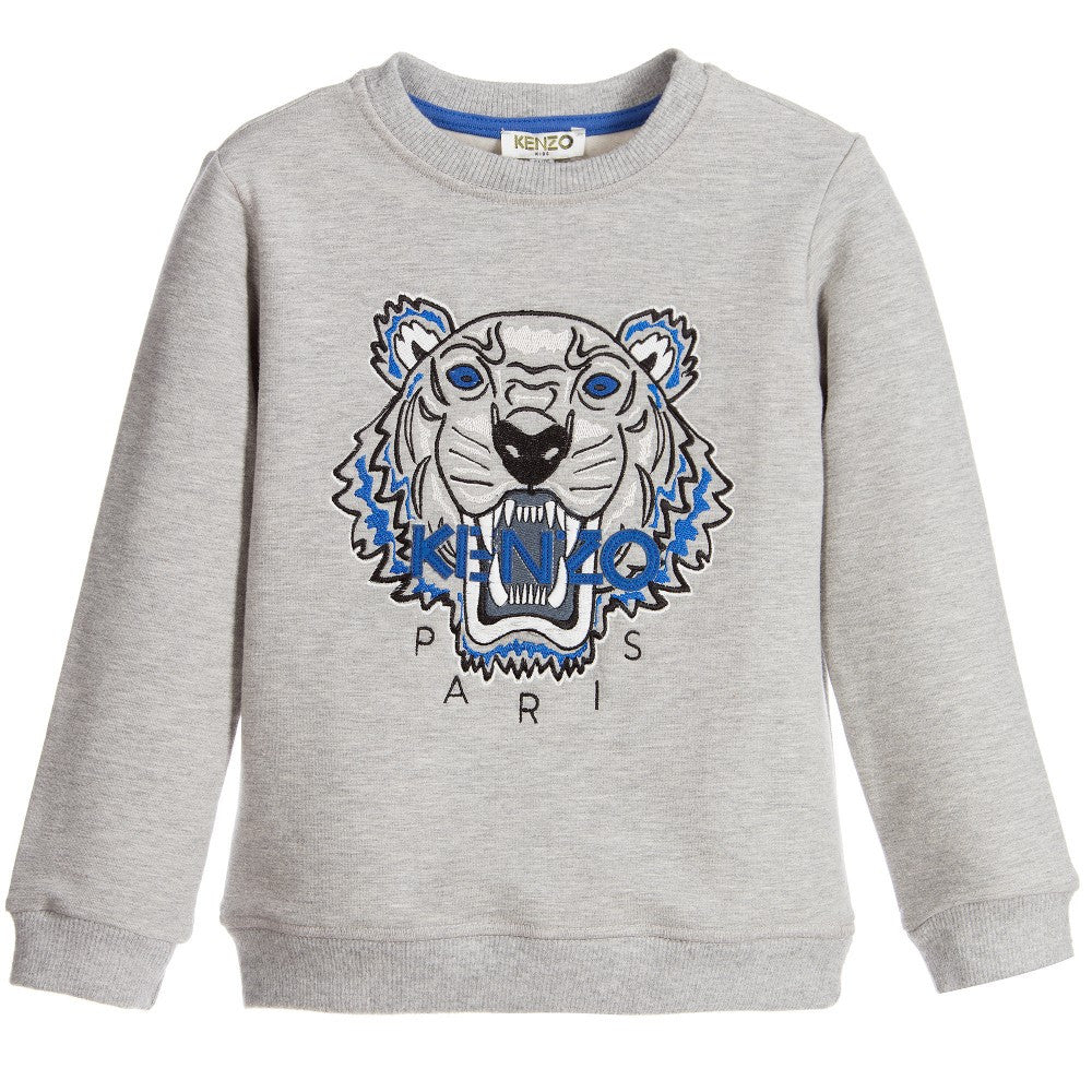 11fda0eb Kenzo Kids Unisex Grey Tiger Logo Sweatshirt – Petit New York