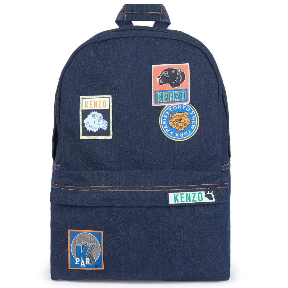 Kenzo Denim Backpack with Patches Accessories Kenzo Paris [Petit_New_York]