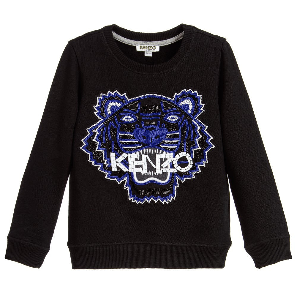 Kenzo Girls Black  Respect   Smile  Tiger Shirt – Petit New York 43bb50e4ad19
