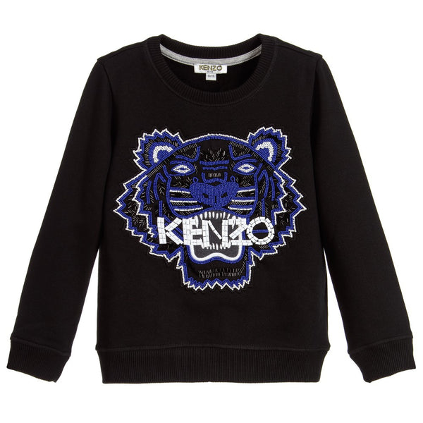 954ae2cfd99 Kenzo Girls Black 'Respect & Smile' Tiger Shirt – Petit New York