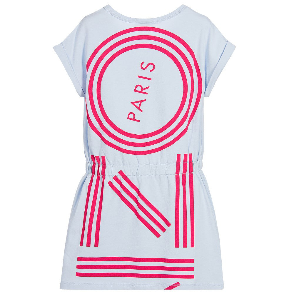 Kenzo Girls Powder Blue Logo Dress Girls Dresses Kenzo Paris [Petit_New_York]