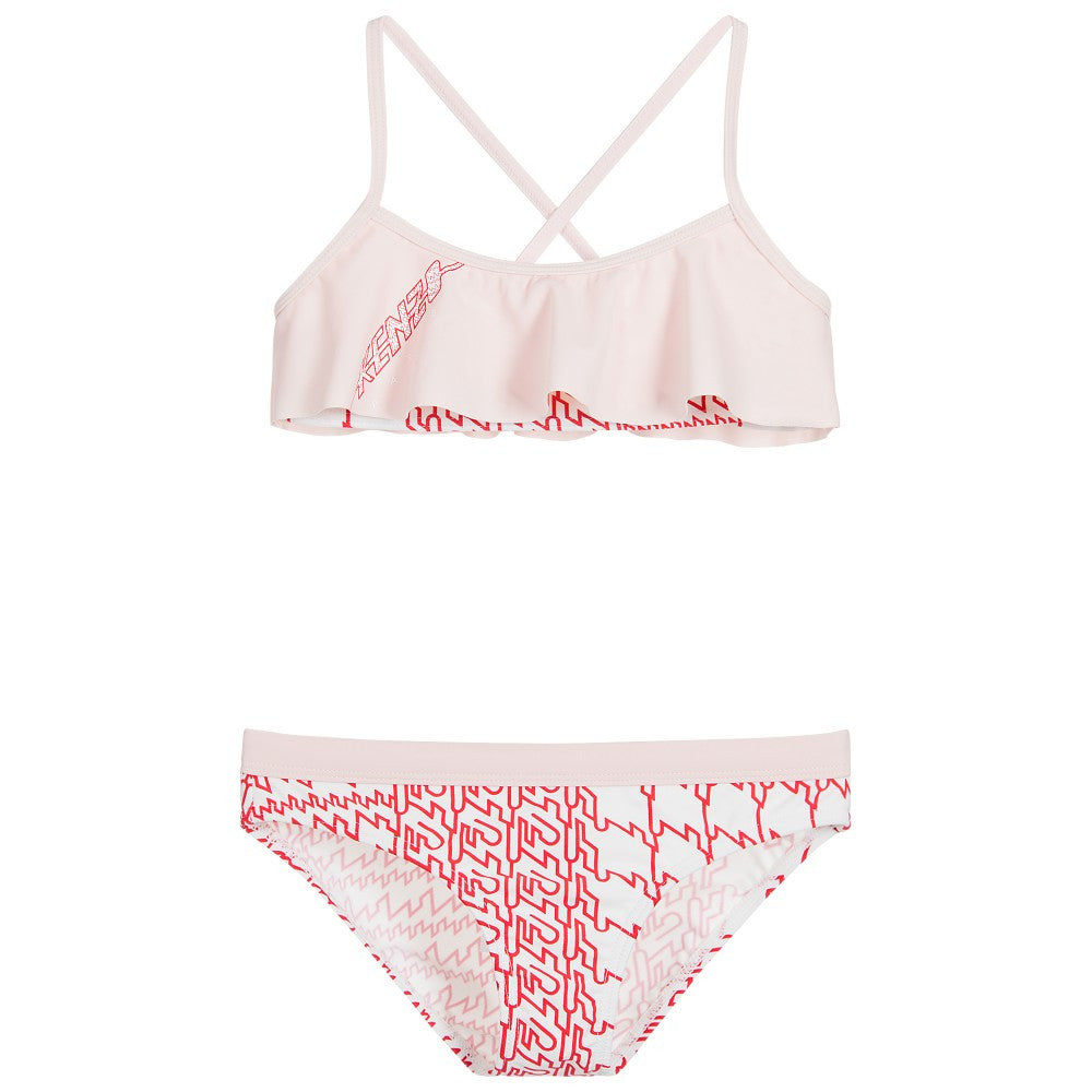 Kenzo Girls Red, Pink & White Bikini Girls Swimwear Kenzo Paris [Petit_New_York]