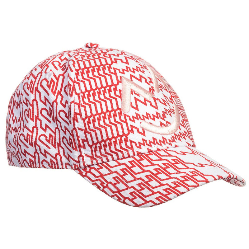 Kenzo Girls Red & White Retro Print Cap Girls Hats, Scarves & Gloves Kenzo Paris [Petit_New_York]