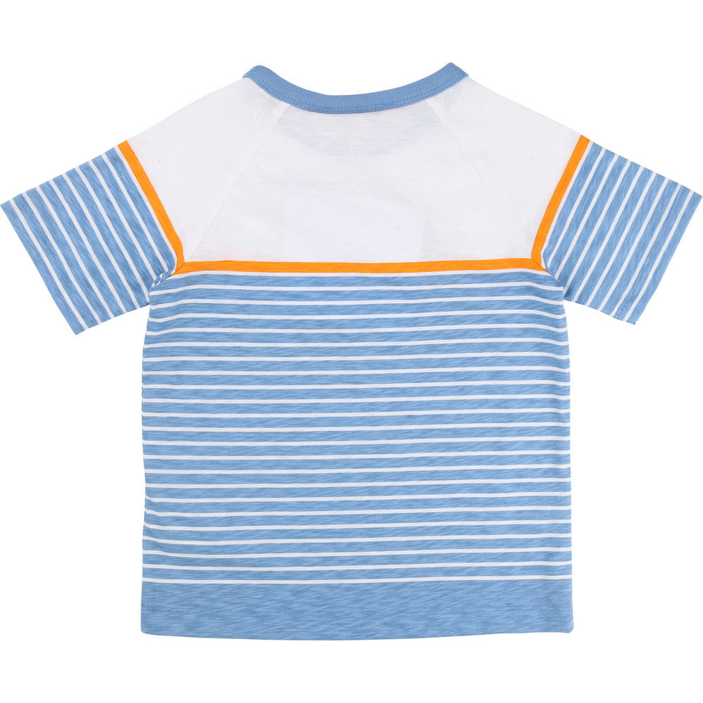 Little Marc Jacobs Boys Blue Striped T-Shirt Boys T-shirts Little Marc Jacobs [Petit_New_York]