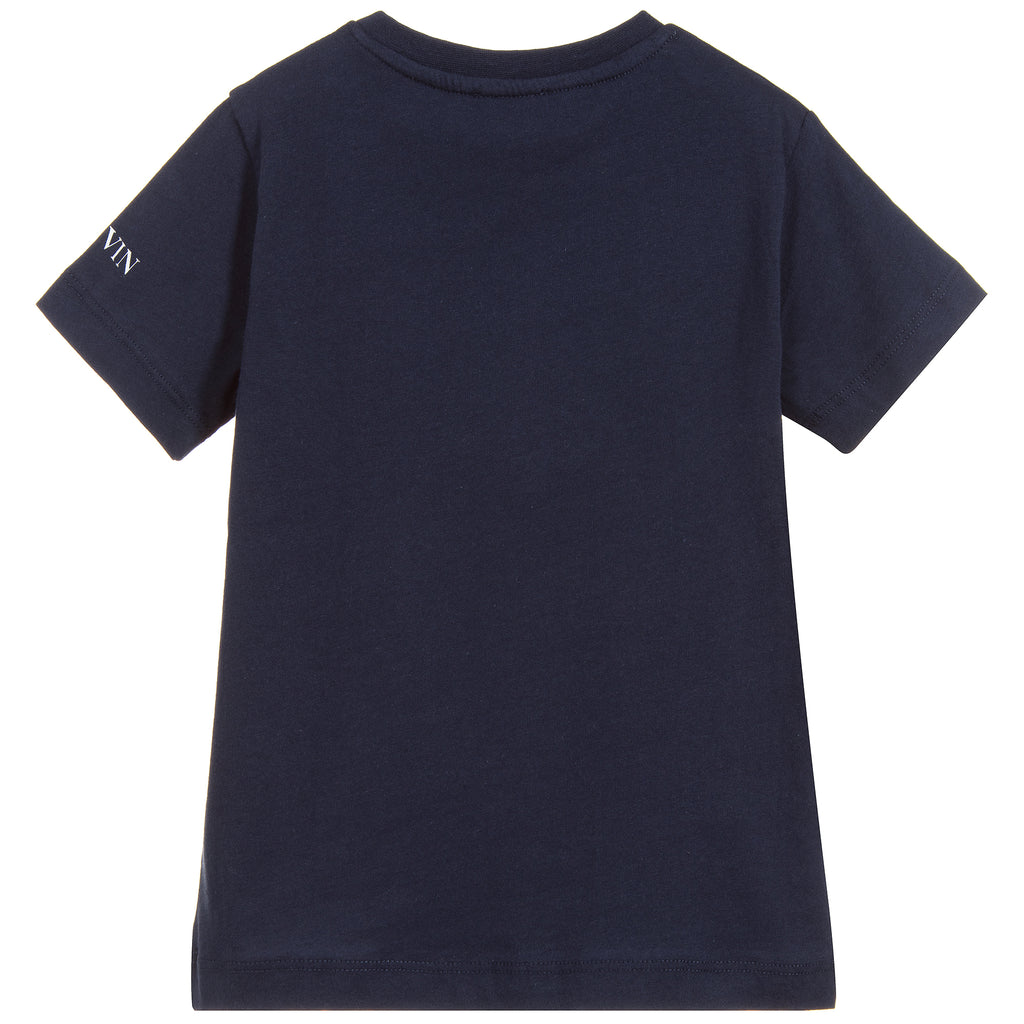 Boys Navy Blue Spider Logo T-shirt