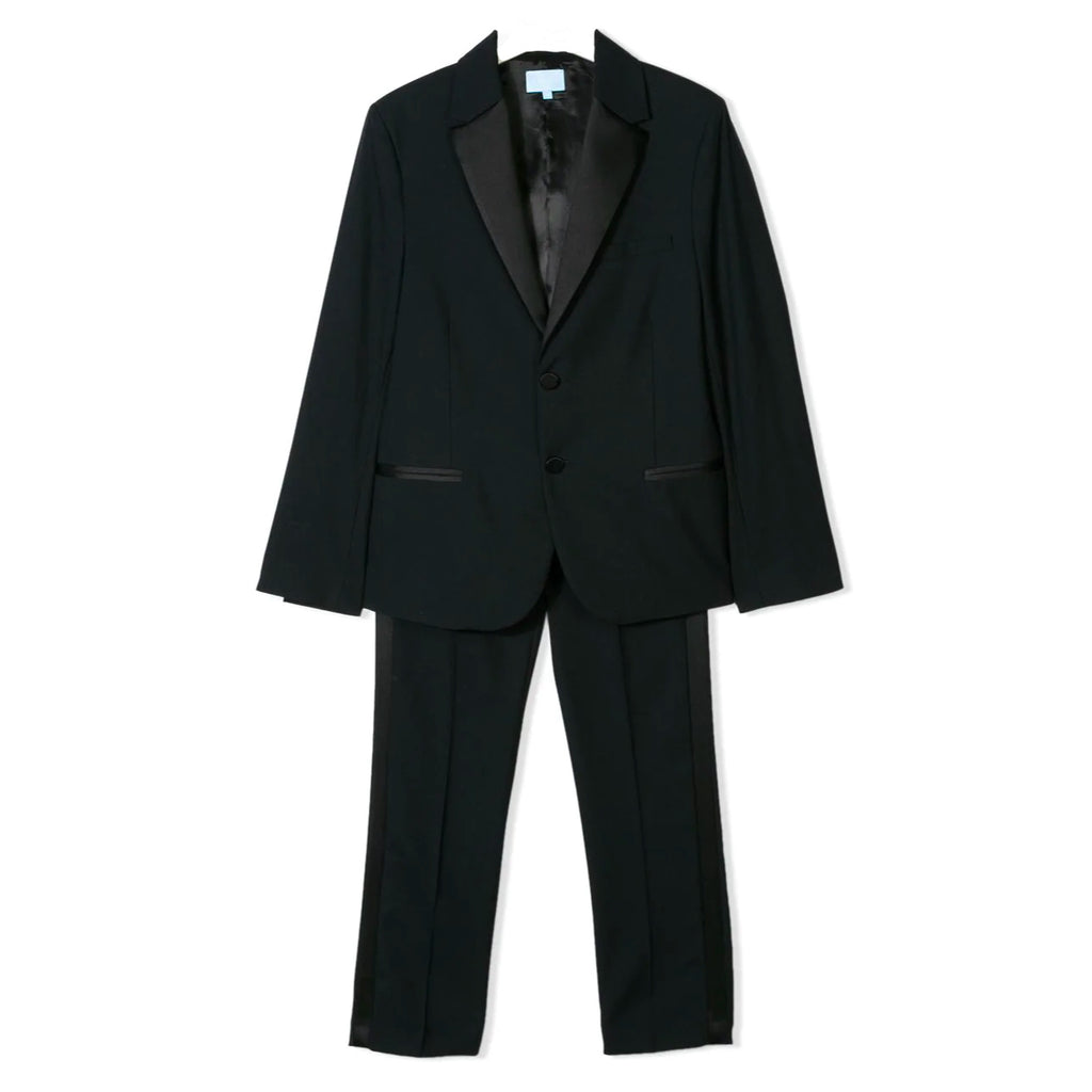 Boys Navy Blue Two Piece Tuxedo Set