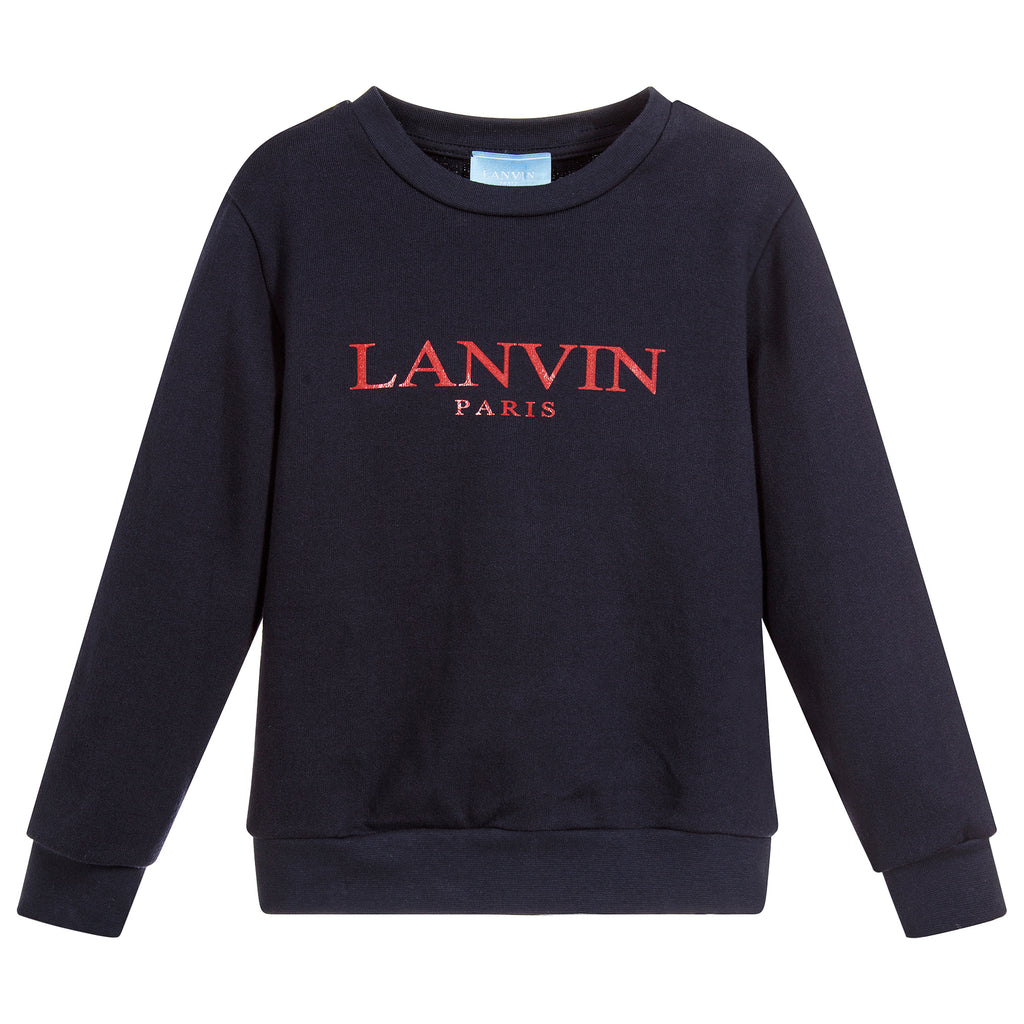 Unisex Navy Blue with Red Logo Sweatshirt