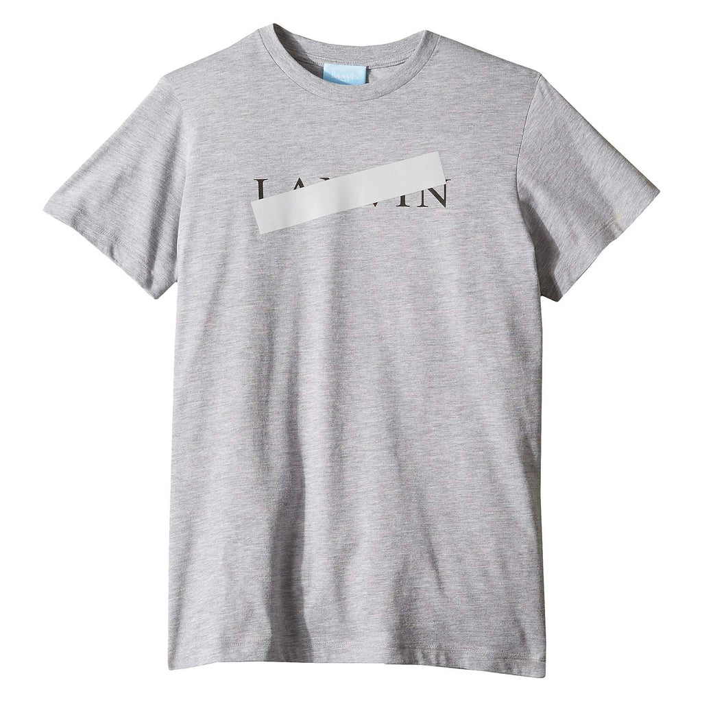 Unisex Grey Taped Logo T-shirt