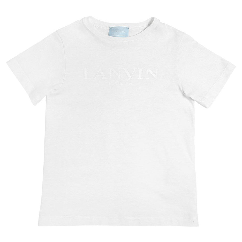 Lanvin Boys White Logo T-shirt Boys T-shirts Lanvin [Petit_New_York]