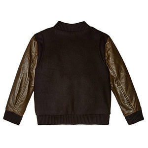 Little Marc Jacobs Boys Leather & Wool Teddy Bomber Boys Jackets & Coats Little Marc Jacobs [Petit_New_York]