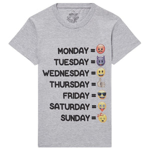 Little Eleven Paris Boys Daily Emoji T-Shirt Boys T-shirts Little Eleven Paris [Petit_New_York]