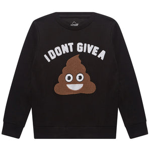 Little Eleven Paris Boys Poo Emoji Sweatshirt Boys Sweaters & Sweatshirts Little Eleven Paris [Petit_New_York]