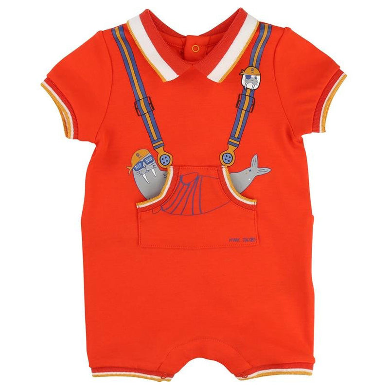 Little Marc Jacobs Baby Walrus Polo Romper Baby Rompers & Onesies Little Marc Jacobs [Petit_New_York]