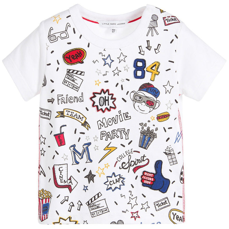 Little Marc Jacobs Baby Boys Colorful Movie Print T-Shirt Baby T-shirts Little Marc Jacobs [Petit_New_York]