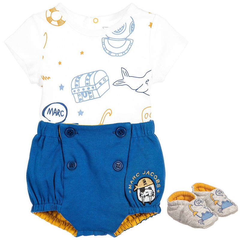 Little Marc Jacobs Baby Boys Under The Sea Gift Set Baby Sets & Suits Little Marc Jacobs [Petit_New_York]