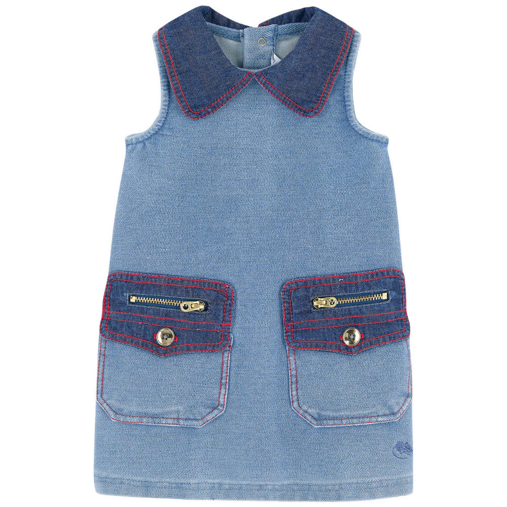 Little Marc Jacobs Baby Girls Denim Trapeze Dress (Mini-Me) Baby Dresses Little Marc Jacobs [Petit_New_York]