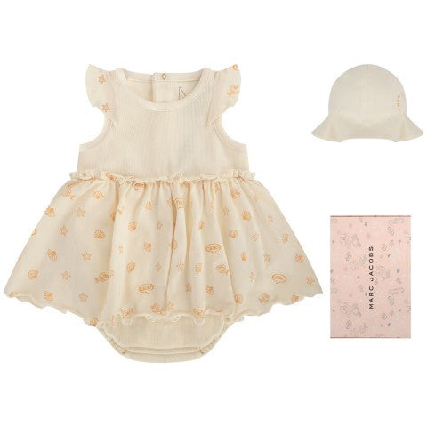 3fc3993d7378 Little Marc Jacobs Baby Girls Ivory Two-piece Gift Set – Petit New York