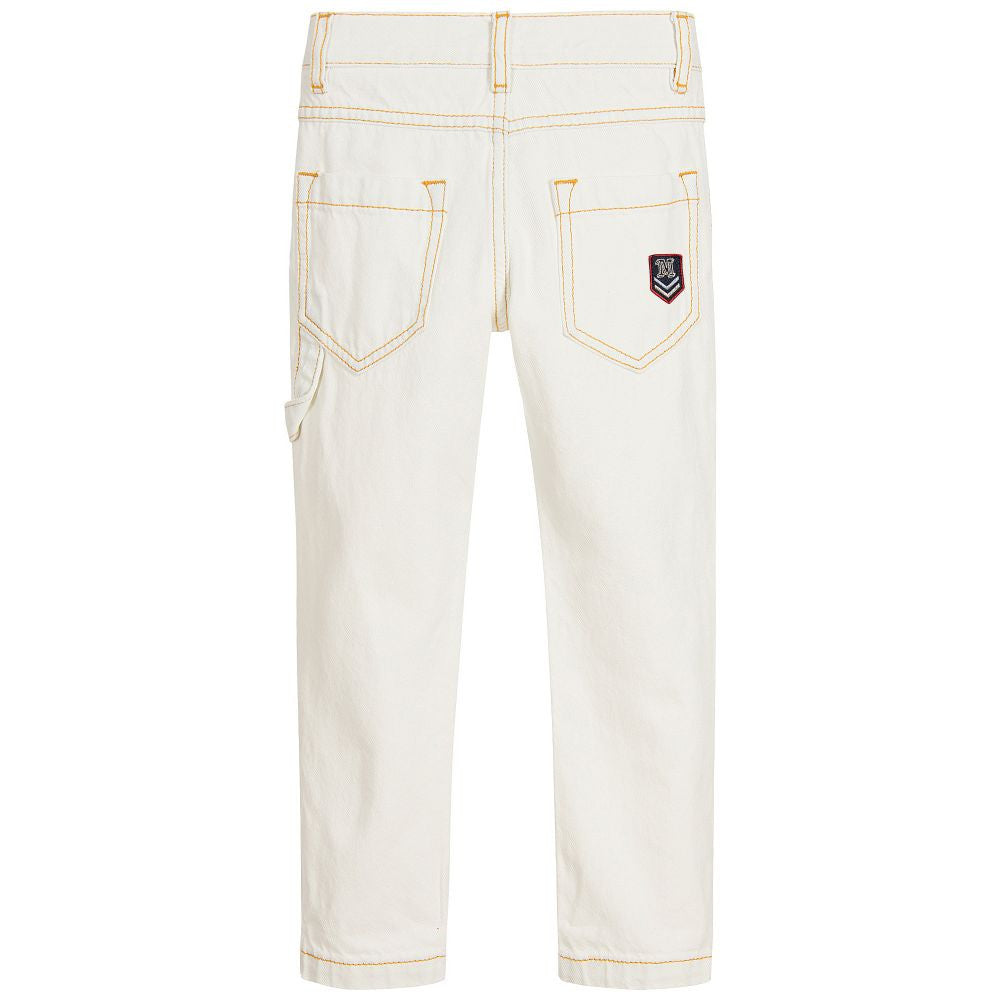 Little Marc Jacobs Boys Off-White Jeans With Patches Boys Pants Little Marc Jacobs [Petit_New_York]