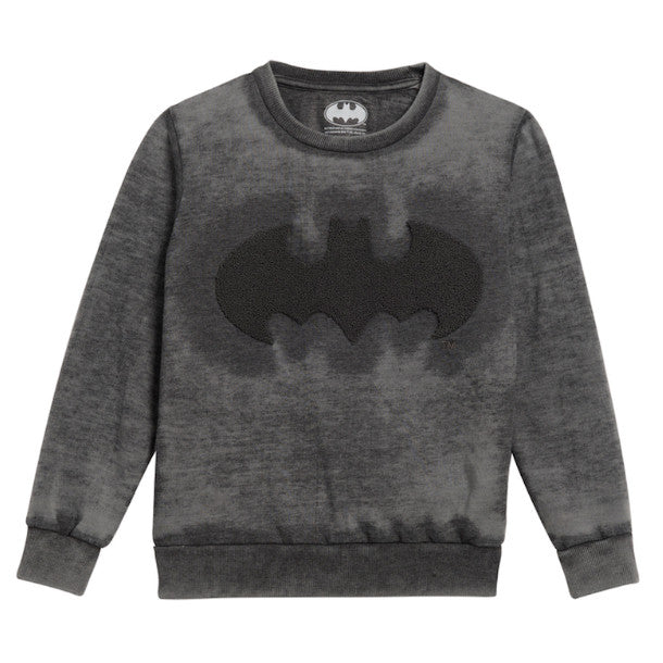 Little Eleven Paris Boys Charcoal Batman Sweatshirt Boys Sweaters & Sweatshirts Little Eleven Paris [Petit_New_York]