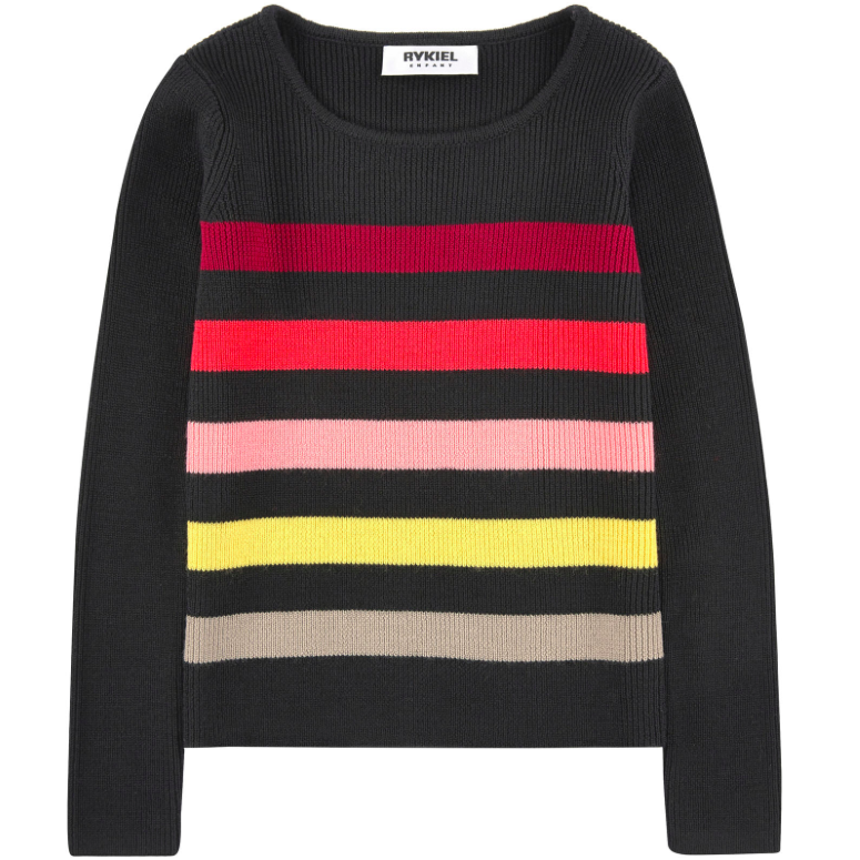 db2427c472 Sonia Rykiel Girls Colorful Striped Sweater Girls Sweaters & Sweatshirts  Rykiel Enfant [Petit_New_York]