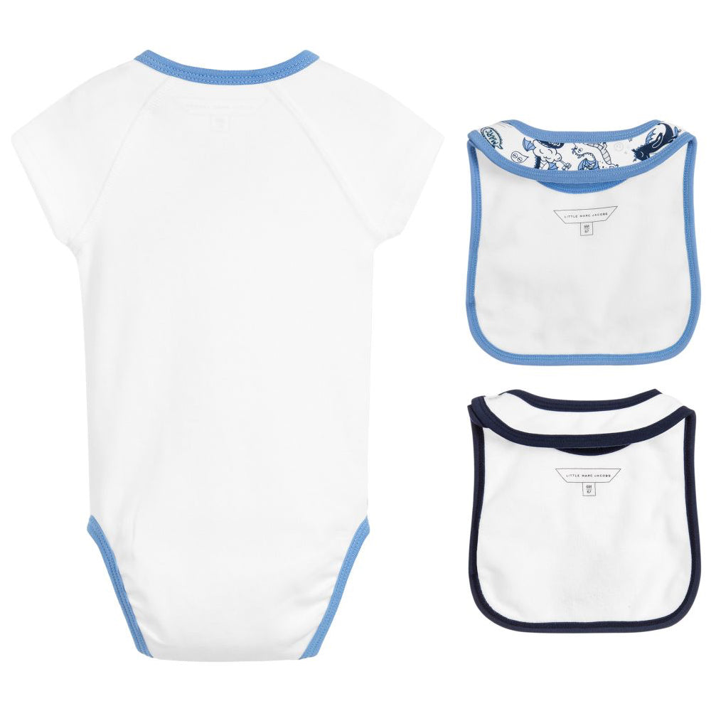 Marc Jacobs Baby Boys Bibs and Romper Gift Set