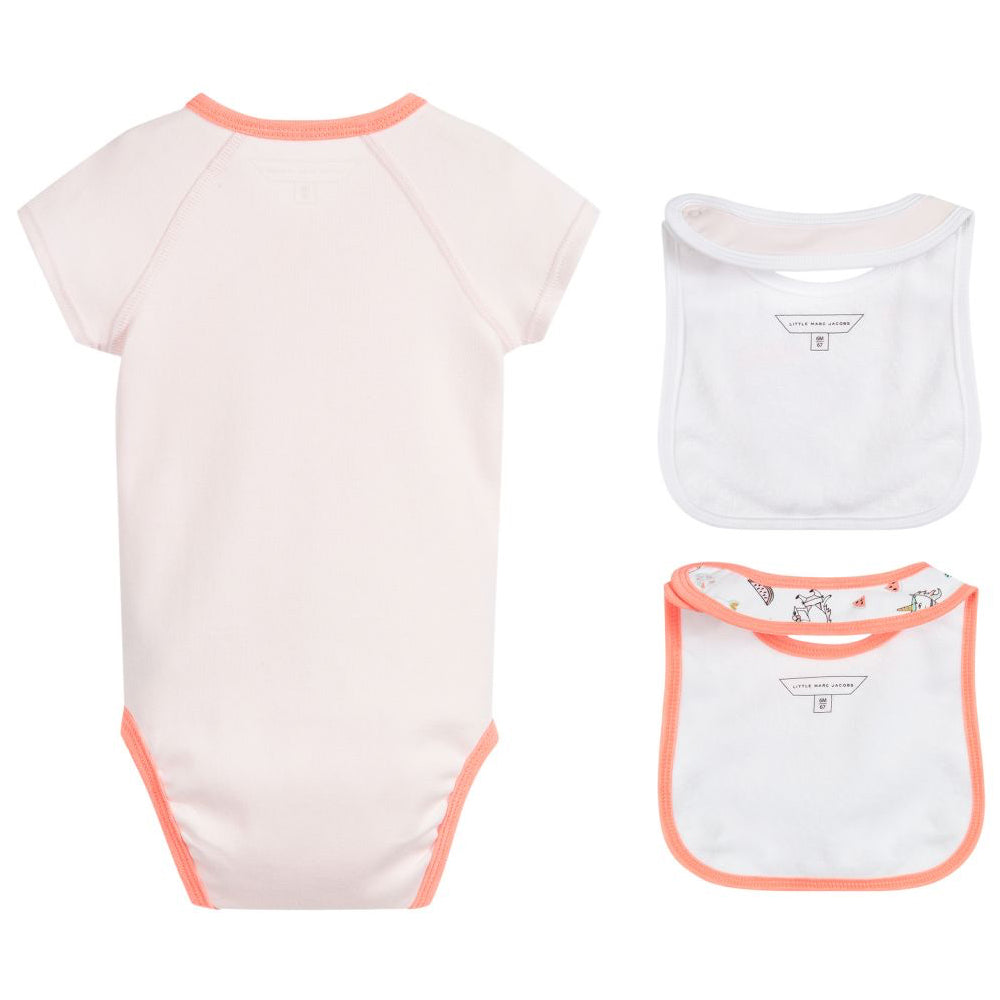 Marc Jacobs Baby Girls Bibs and Romper Gift Set