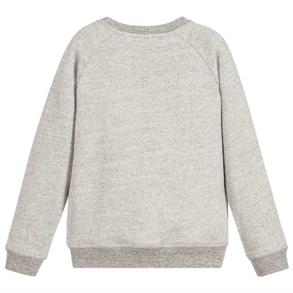 Marc Jacobs Boys Grey Logo Sweatshirt (Unisex) Boys Sweaters & Sweatshirts Little Marc Jacobs [Petit_New_York]