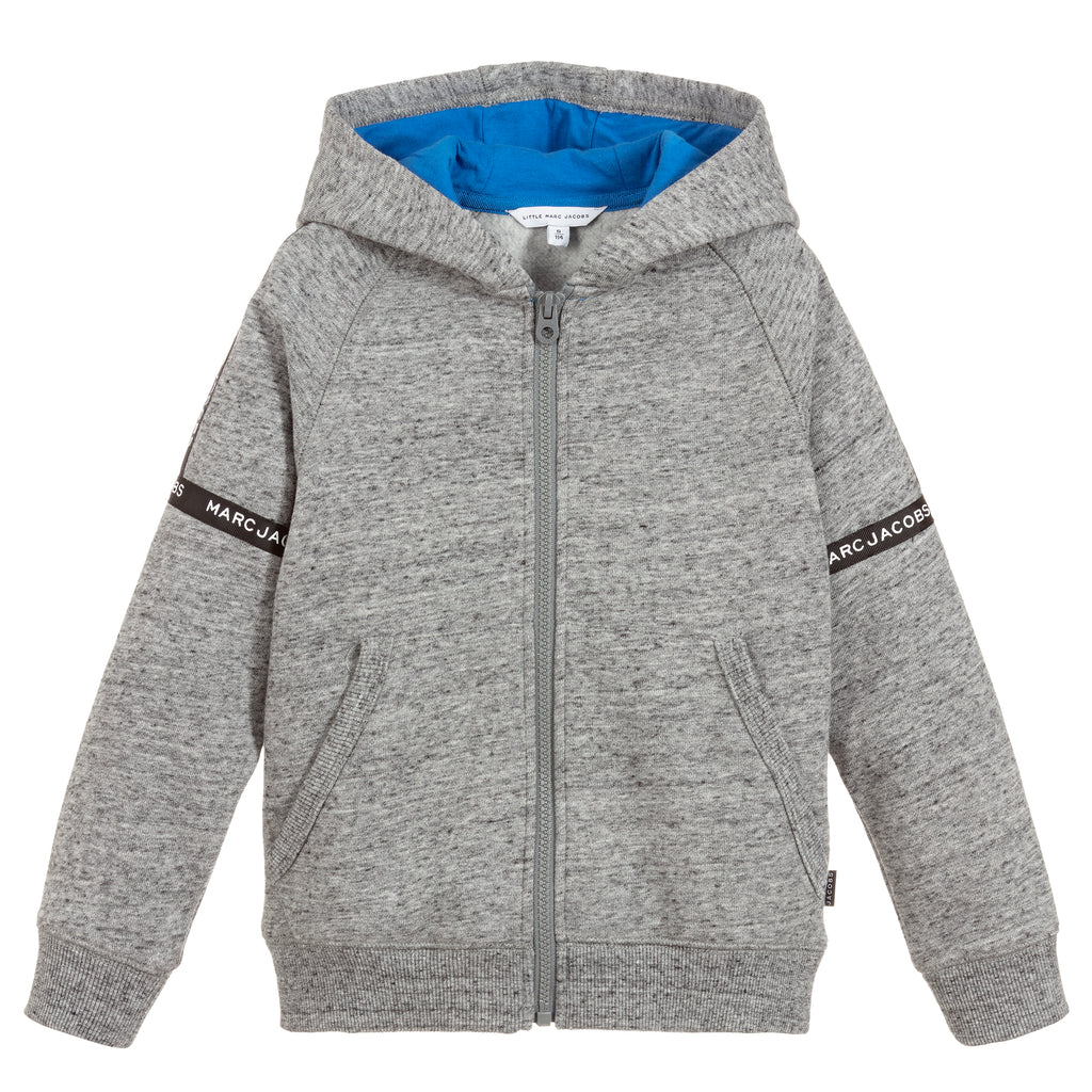 Boys Grey Zip Up Hoodie