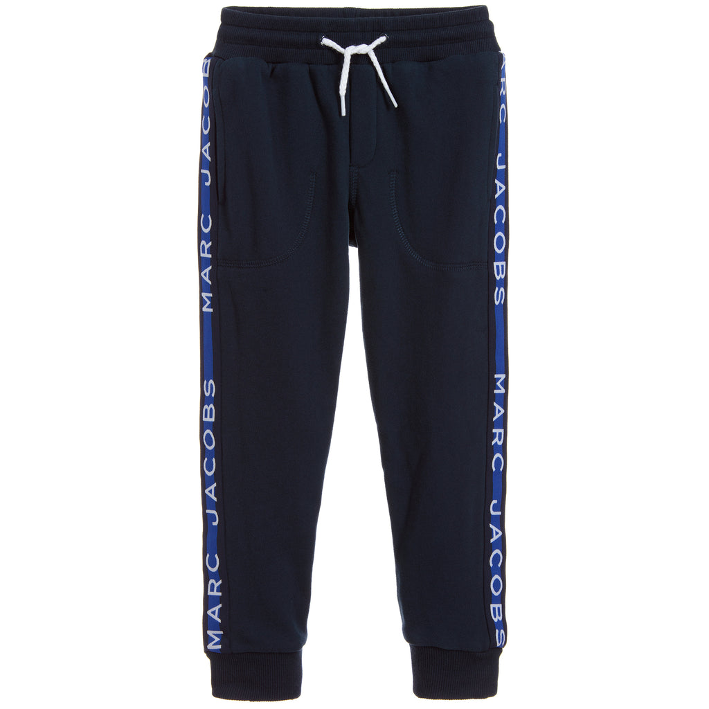 Boys Navy Blue Logo Sweatpants