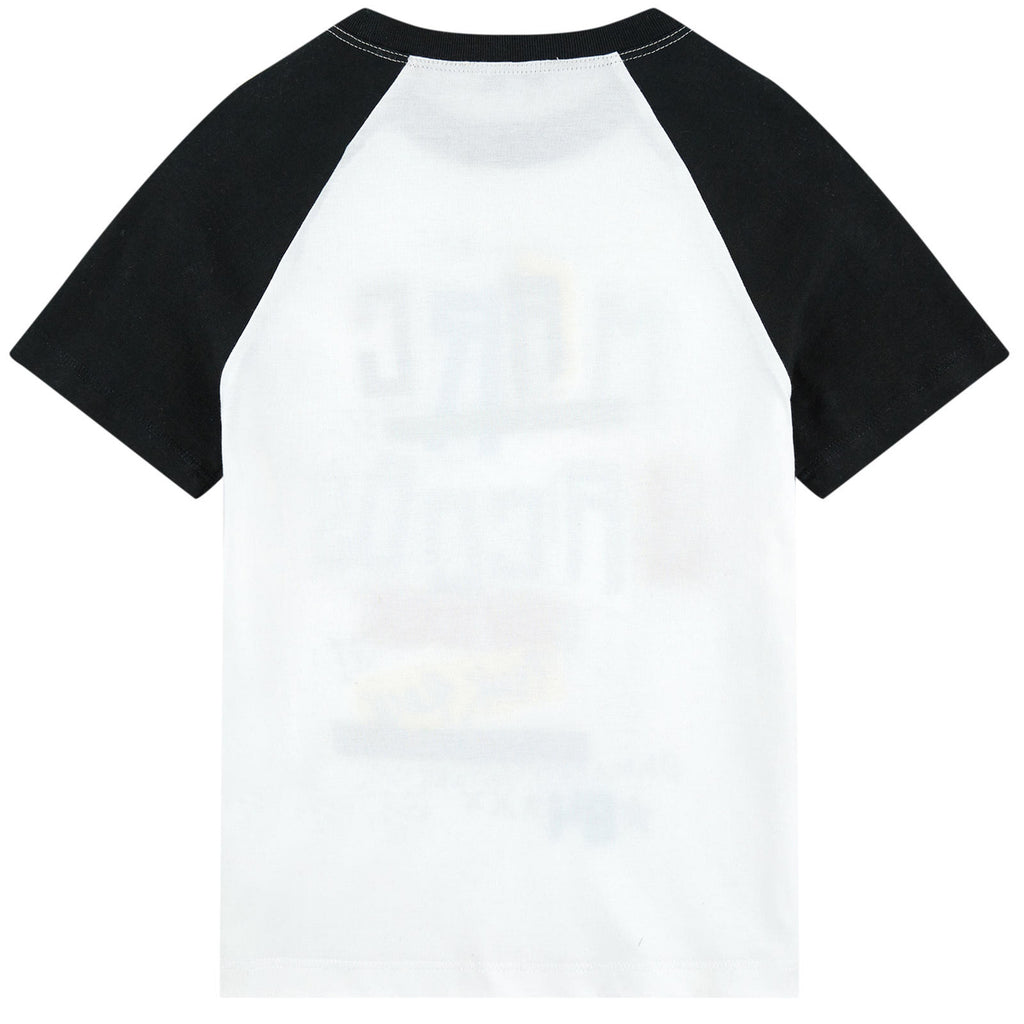 Marc Jacobs Boys White and Black Printed Rock 'n' Roll T-shirt