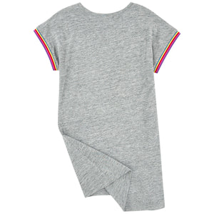 Marc Jacobs Girls Grey Comfy Dress with Colorful Print